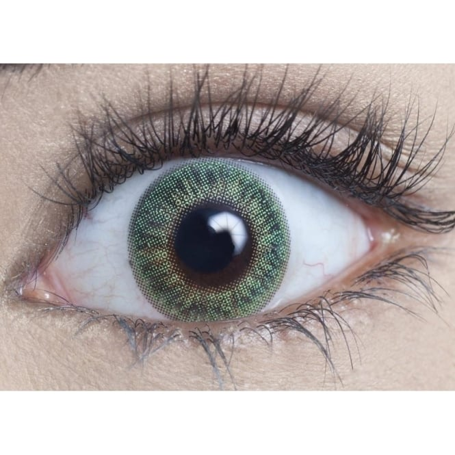 MesmerEyez Natural Coloured Contact Lenses Blendz - Emerald Green (Usage:1,3,12 Months - 1 Pair)