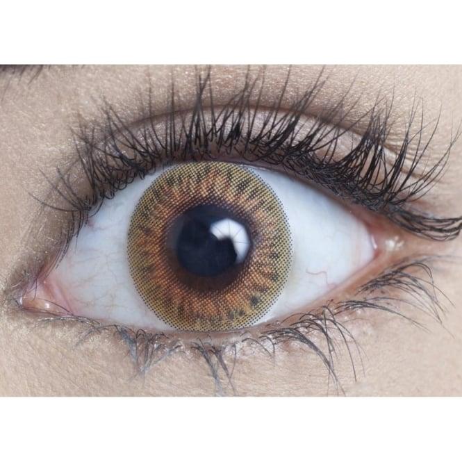 MesmerEyez Natural Coloured Contact Lenses Blendz - Hazel (Usage:1,3,12 Months - 1 Pair)