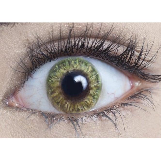 MesmerEyez Natural Coloured Contact Lenses Blendz - Lime Green (Usage:1,3,12 Months - 1 Pair)
