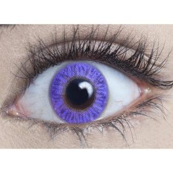 Natural Coloured Contact Lenses Blendz - Pure Violet (Usage:1,3,12 Months - 1 Pair)