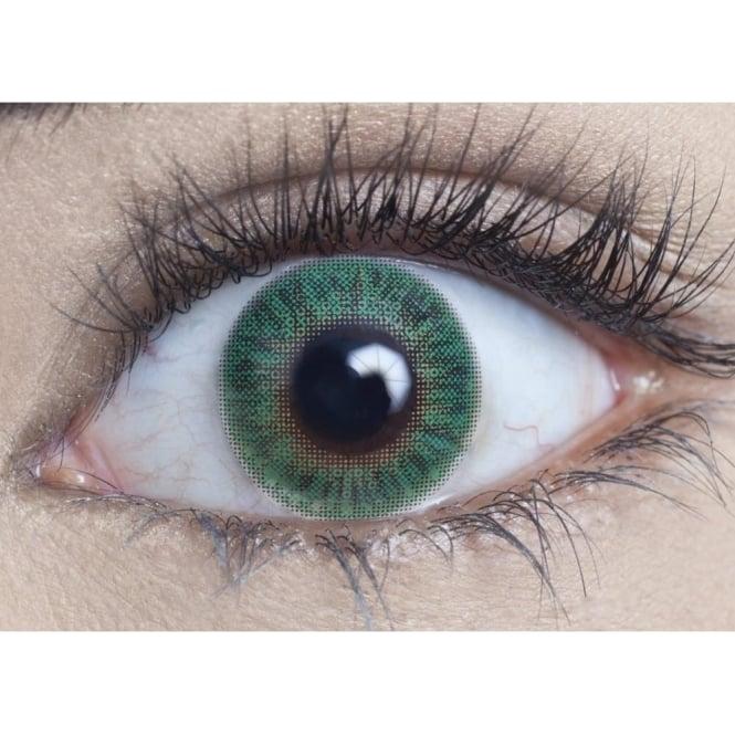 MesmerEyez Natural Coloured Contact Lenses Blendz - Turquoise (Usage:1,3,12 Months - 1 Pair)