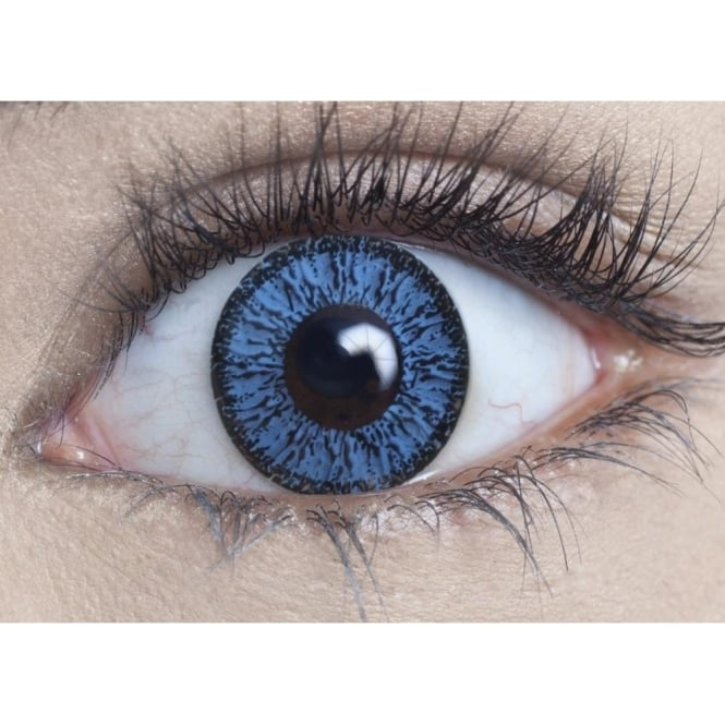 MesmerEyez Natural Coloured Contact Lenses Illusionz - Aqua Blue (Usage:1,3,12 Months - 1 Pair)