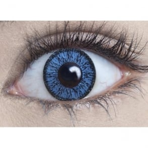 Natural Coloured Contact Lenses Illusionz - Aqua Blue (Usage:1,3,12 Months - 1 Pair)