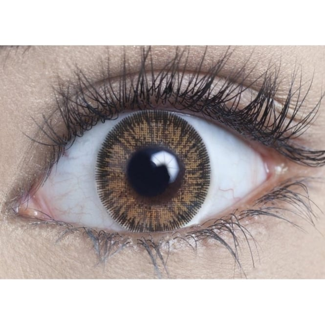 MesmerEyez Natural Coloured Contact Lenses Illusionz - Brown (Usage:1,3,12 Months - 1 Pair)