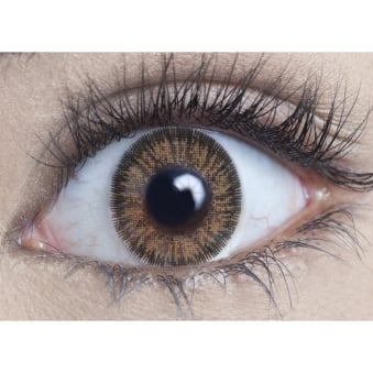 Natural Coloured Contact Lenses Illusionz - Brown (Usage:1,3,12 Months - 1 Pair)