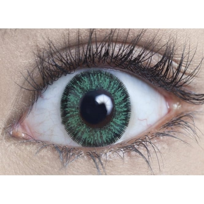 MesmerEyez Natural Coloured Contact Lenses Illusionz - Green (Usage:1,3,12 Months - 1 Pair)