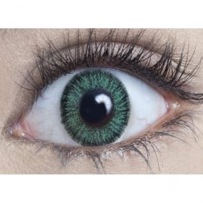 Natural Coloured Contact Lenses Illusionz - Green (Usage:1,3,12 Months - 1 Pair)