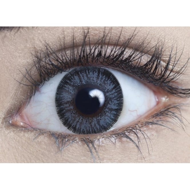MesmerEyez Natural Coloured Contact Lenses Illusionz - Grey (Usage:1,3,12 Months - 1 Pair)