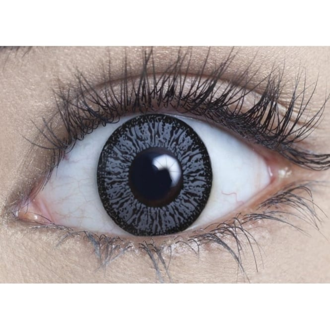 MesmerEyez Natural Coloured Contact Lenses Illusionz - Pure Grey (Usage:1,3,12 Months - 1 Pair)