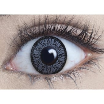 Natural Coloured Contact Lenses Illusionz - Pure Grey (Usage:1,3,12 Months - 1 Pair)