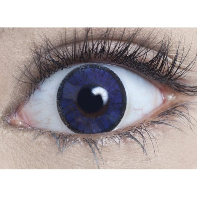 MesmerEyez Natural Coloured Contact Lenses Illusionz - Royal Blue (Usage:1,3,12 Months - 1 Pair)