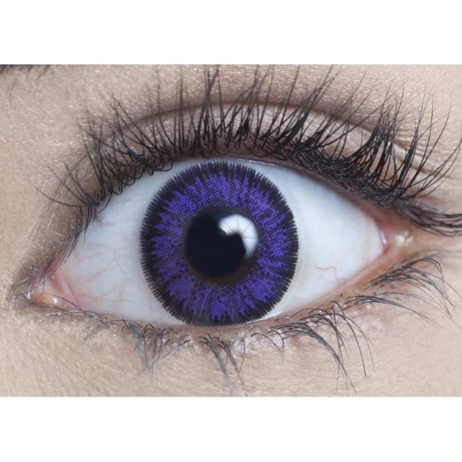 MesmerEyez Natural Coloured Contact Lenses Illusionz - Violet (Usage:1,3,12 Months - 1 Pair)