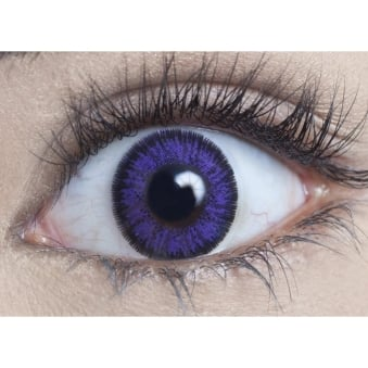 Natural Coloured Contact Lenses Illusionz - Violet (Usage:1,3,12 Months - 1 Pair)