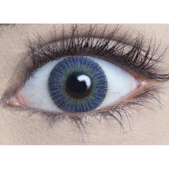 MesmerEyez Natural Coloured Contact Lenses Infusionz - Blue Jade (Usage:1,3,12 Months - 1 Pair)