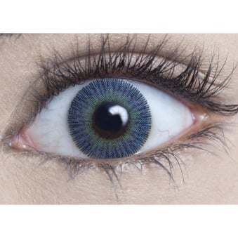 Natural Coloured Contact Lenses Infusionz - Blue Jade (Usage:1,3,12 Months - 1 Pair)