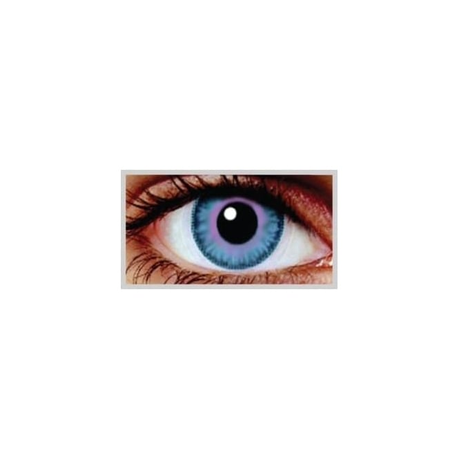 MesmerEyez Natural Coloured Contact Lenses Infusionz - Indigo Sky (Usage:1,3,12 Months - 1 Pair)