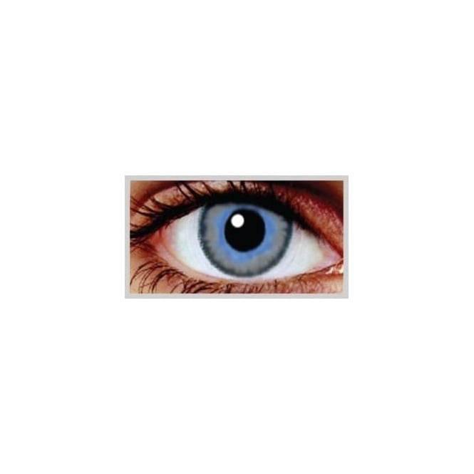 MesmerEyez Natural Coloured Contact Lenses Infusionz - Platinum Aqua (Usage:1,3,12 Months - 1 Pair)