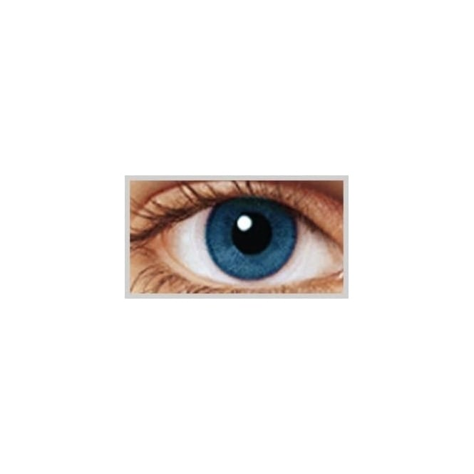 MesmerEyez Natural Coloured Contact Lenses Infusionz - Two Blues (Usage:1,3,12 Months - 1 Pair)