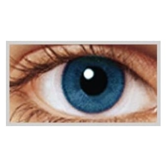 Natural Coloured Contact Lenses Infusionz - Two Blues (Usage:1,3,12 Months - 1 Pair)