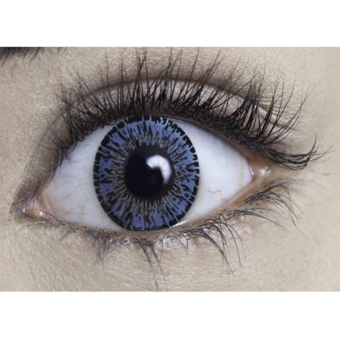 MesmerEyez Natural Coloured Contact Lenses Intense - Azure Blue (Usage:1,3,12 Months - 1 Pair)