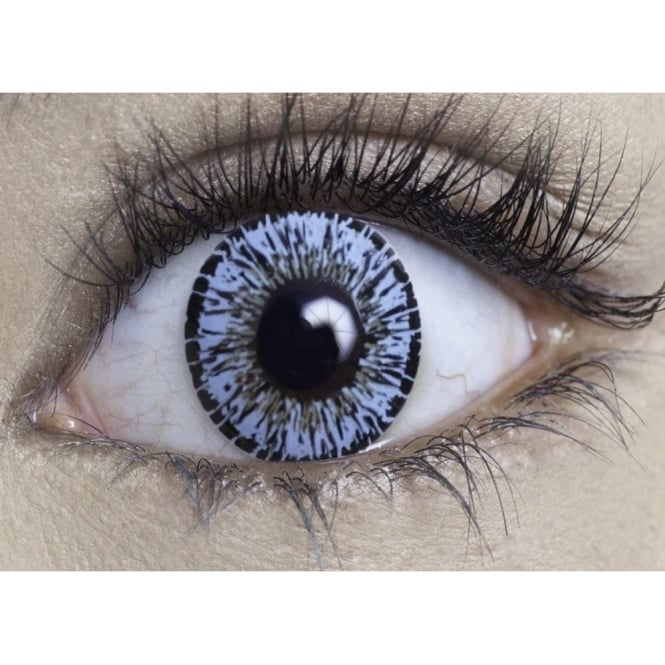 MesmerEyez Natural Coloured Contact Lenses Intense - Eden Blue (Usage:1,3,12 Months - 1 Pair)