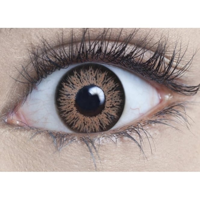 MesmerEyez Natural Coloured Contact Lenses Intense - Hazel Brown (Usage:1,3,12 Months - 1 Pair)