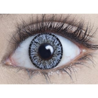 Natural Coloured Contact Lenses Intense - Platinum Grey (Usage:1,3,12 Months - 1 Pair)