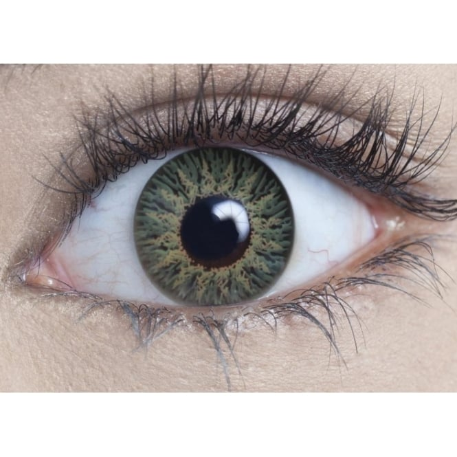 MesmerEyez Natural Coloured Contact Lenses Intense - Soft Green (Usage:1,3,12 Months - 1 Pair)