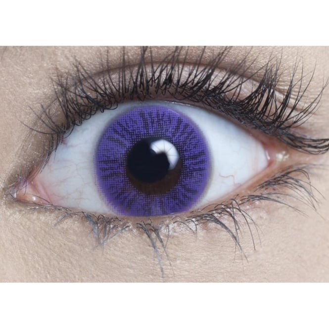 MesmerEyez Natural Coloured Contact Lenses - Lavender (Usage:1,3,12 Months - 1 Pair)