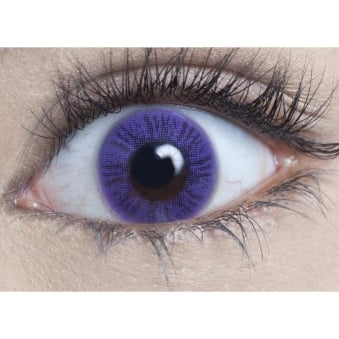 Natural Coloured Contact Lenses - Lavender (Usage:1,3,12 Months - 1 Pair)