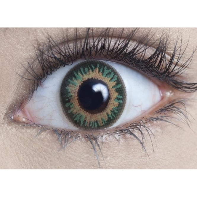 MesmerEyez Natural Coloured Contact Lenses - Persian Green - Natural Blendz (1 Day) (1 Pair)
