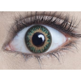 Natural Coloured Contact Lenses - Persian Green - Natural Blendz (1 Day) (1 Pair)