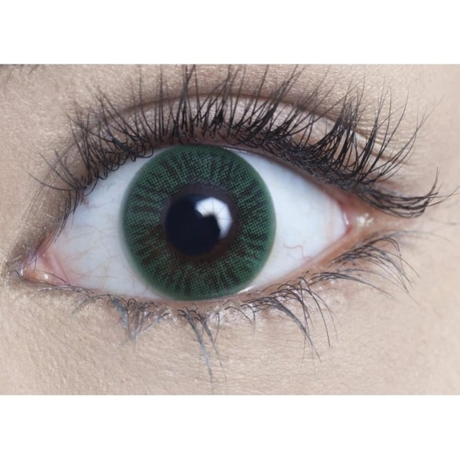 MesmerEyez Natural Coloured Contact Lenses - Sea Green (Usage:1,3,12 Months - 1 Pair)
