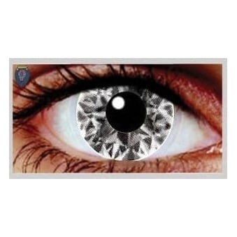 Fancy Dress Halloween Contact Lenses - Ali White UV (Usage:1,3,12 Months - 1 Pair)