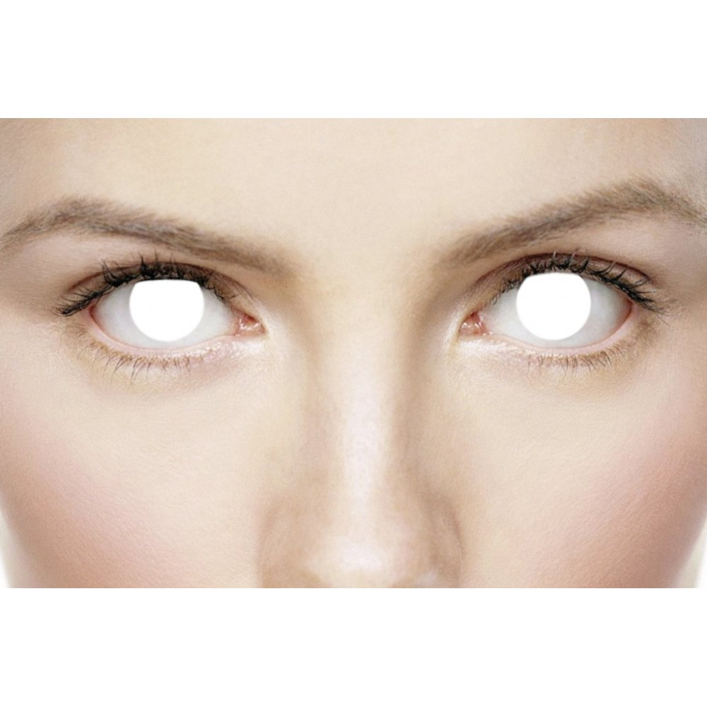 MesmerEyez Fancy Dress Halloween Contact Lenses - Blind (1 Pair)