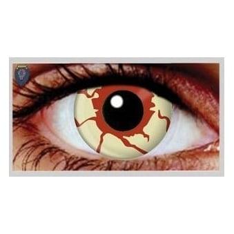 Fancy Dress Halloween Contact Lenses - Blood Shot (Usage:1,3,12 Months - 1 Pair)