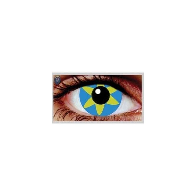 Mesmereyez Xtreme Fancy Dress Halloween Contact Lenses - Blue Burst (Usage:1,3,12 Months - 1 Pair)