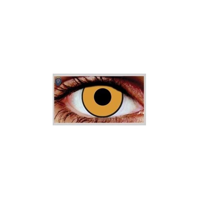Mesmereyez Xtreme Fancy Dress Halloween Contact Lenses - Citrus Gold (Usage:1,3,12 Months - 1 Pair)