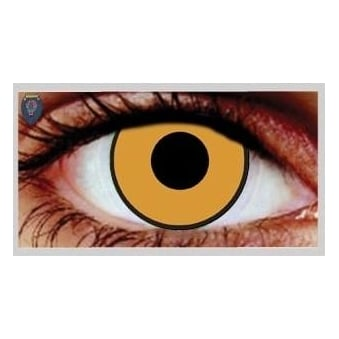 Fancy Dress Halloween Contact Lenses - Citrus Gold (Usage:1,3,12 Months - 1 Pair)