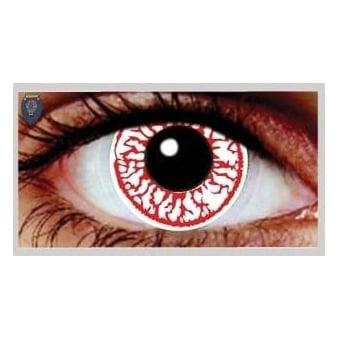 Fancy Dress Halloween Contact Lenses - CrackHead (Usage:1,3,12 Months - 1 Pair)