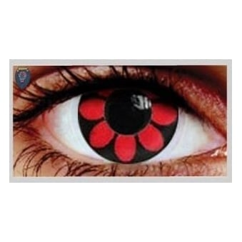 Fancy Dress Halloween Contact Lenses - Crazy Daisy (Usage:1,3,12 Months - 1 Pair)