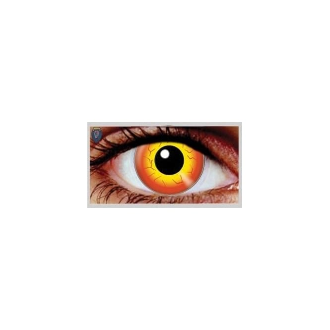 Mesmereyez Xtreme Fancy Dress Halloween Contact Lenses - Darth Maul (Usage:1,3,12 Months - 1 Pair)