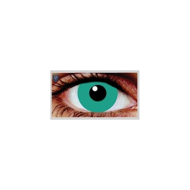 Mesmereyez Xtreme Fancy Dress Halloween Contact Lenses - Deep Green (Usage:1,3,12 Months - 1 Pair)