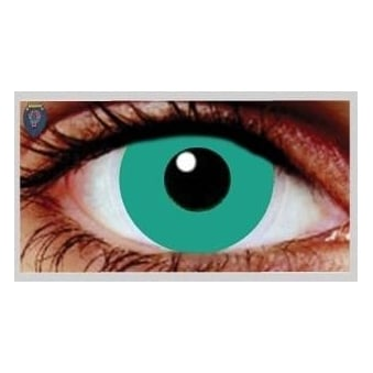 Fancy Dress Halloween Contact Lenses - Deep Green (Usage:1,3,12 Months - 1 Pair)