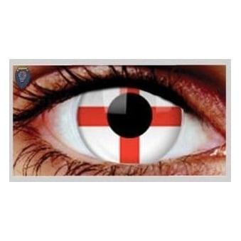 Fancy Dress Halloween Contact Lenses - England (Usage:1,3,12 Months - 1 Pair)
