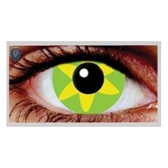 Fancy Dress Halloween Contact Lenses - Green Burst (Usage:1,3,12 Months - 1 Pair)