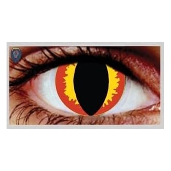 Fancy Dress Halloween Contact Lenses - Hades (Usage:1,3,12 Months - 1 Pair)