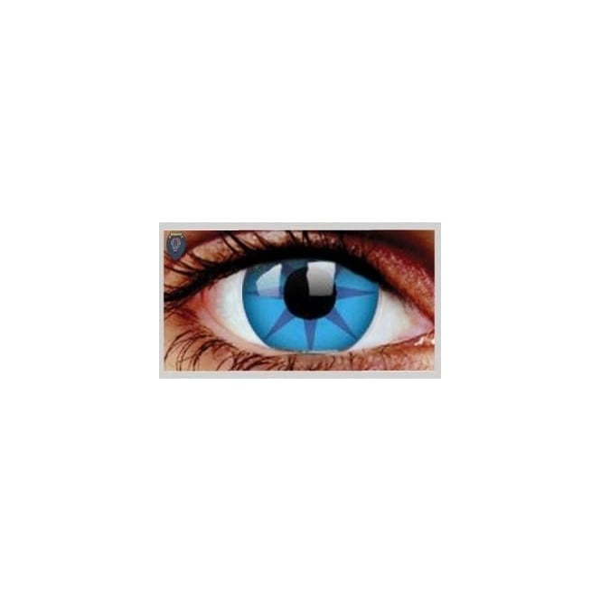 Mesmereyez Xtreme Fancy Dress Halloween Contact Lenses - Ice Fire (Usage:1,3,12 Months - 1 Pair)