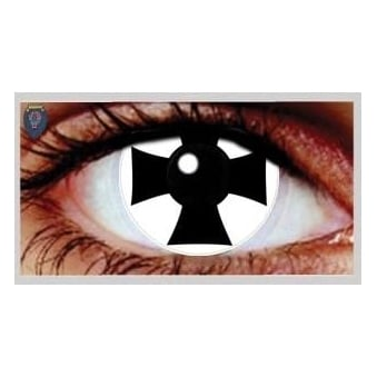Fancy Dress Halloween Contact Lenses - Iron Cross (Usage:1,3,12 Months - 1 Pair)