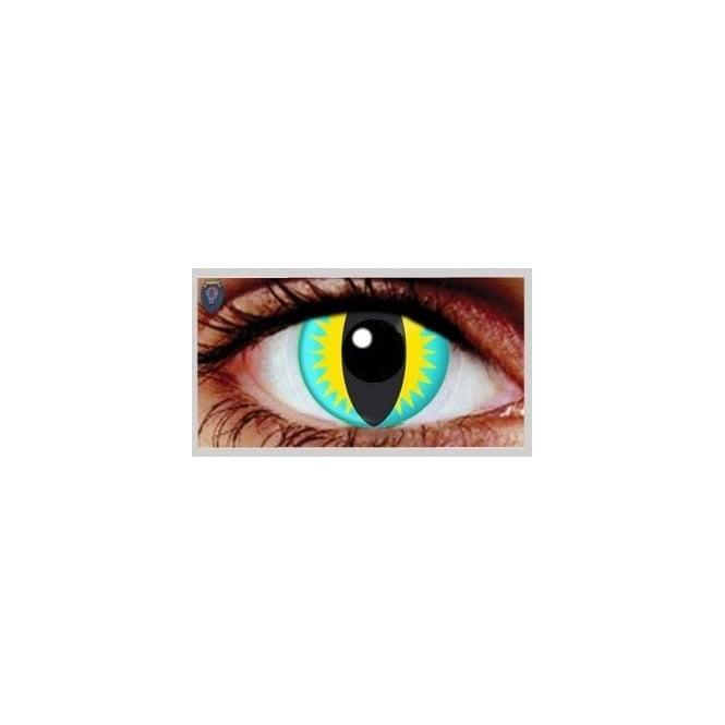 Mesmereyez Xtreme Fancy Dress Halloween Contact Lenses - Lizard (Usage:1,3,12 Months - 1 Pair)